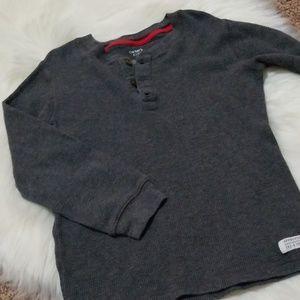 Boy's Waffle-knit Long sleeve Shirt